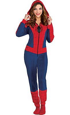 Adult footie pajamas spiderman photos 487