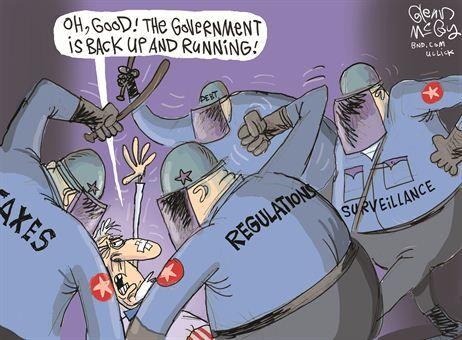 Government Shut Down Cartoon Jokes