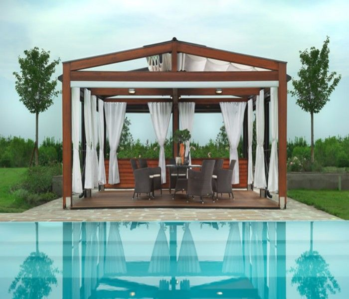 Wooden Deck Pergola for Swimming Pool | Pergolas, Deck pergola and ...