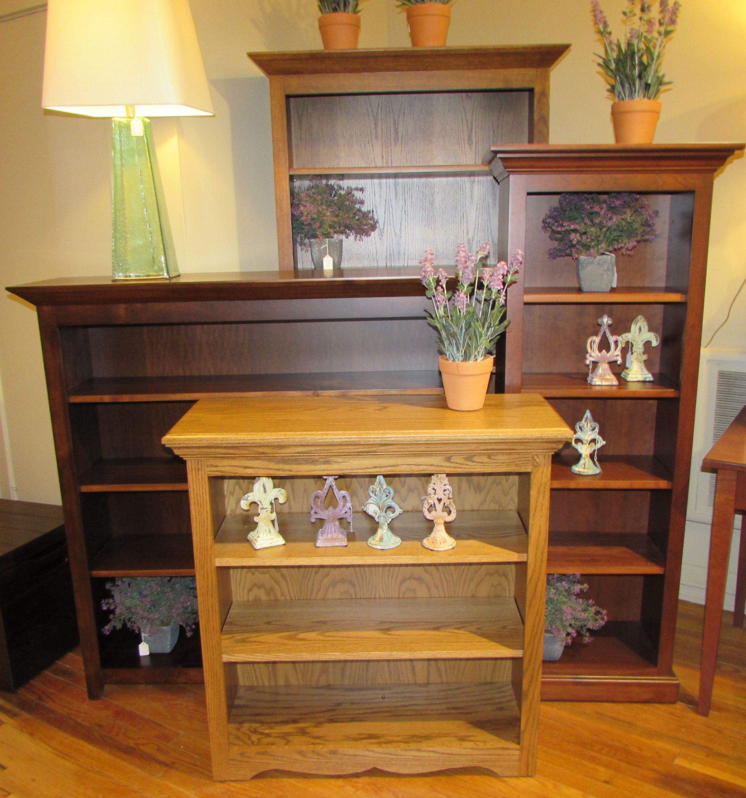 Open Front bookcases. Made to order in a variety of sizes and styles.   #bookcases #homeoffice #storage
