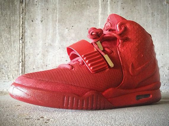 Nike Air Yeezy 2 Red October Customs By Mache Kicksonfire Com Yeezy 2 Red October Sneakers Yeezy