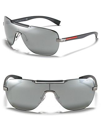 16e3803463130 Prada Shield Thin Temple Sunglasses