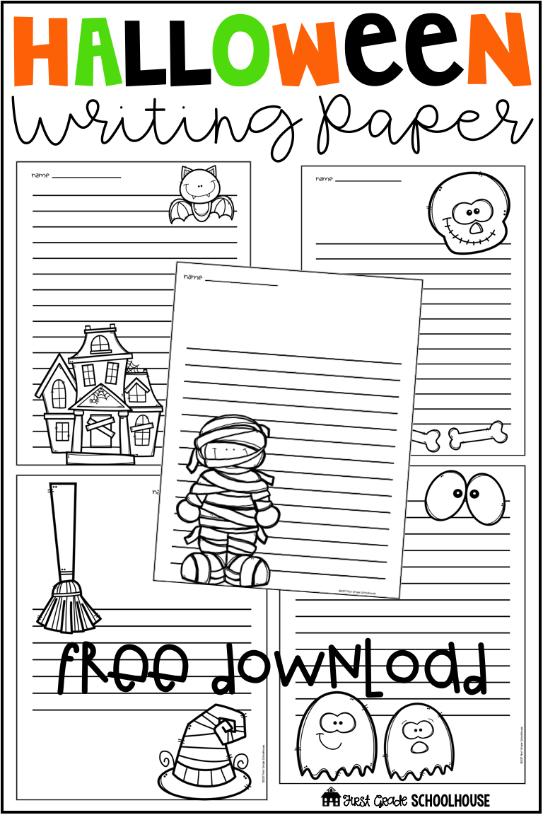 halloween writing paper free writing resources tpt second grade writing halloween school. Black Bedroom Furniture Sets. Home Design Ideas