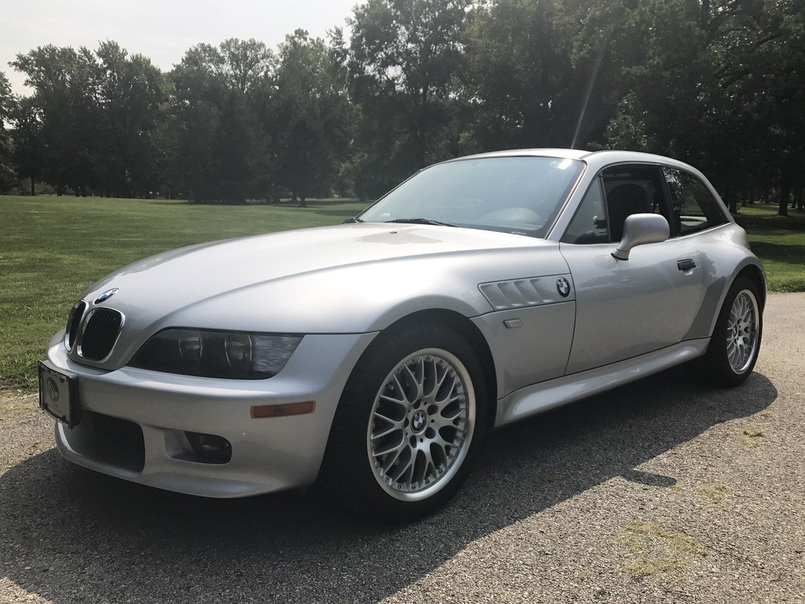 2001 BMW Z3 Coupe---Titanium Silver Metallic w/ Black Leather---5 speed  manual---Aluminum Look Interior Trim---Power Moonroof---Heated front  seats---In-dash ...