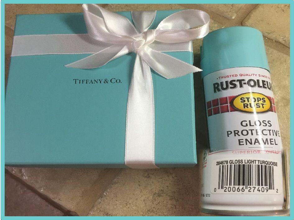 d355b063724 A dead lock for Tiffany blue spray paint. Rust-oleum #284678