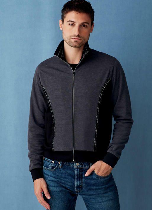 V9290 | Vogue Patterns Men\'s bomber jacket sewing pattern by Ron ...