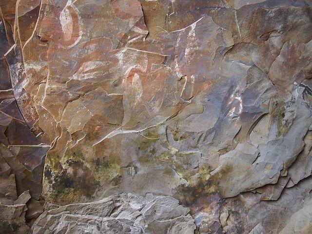 Pictografia  en  cuevas  de  Rapa  Nui