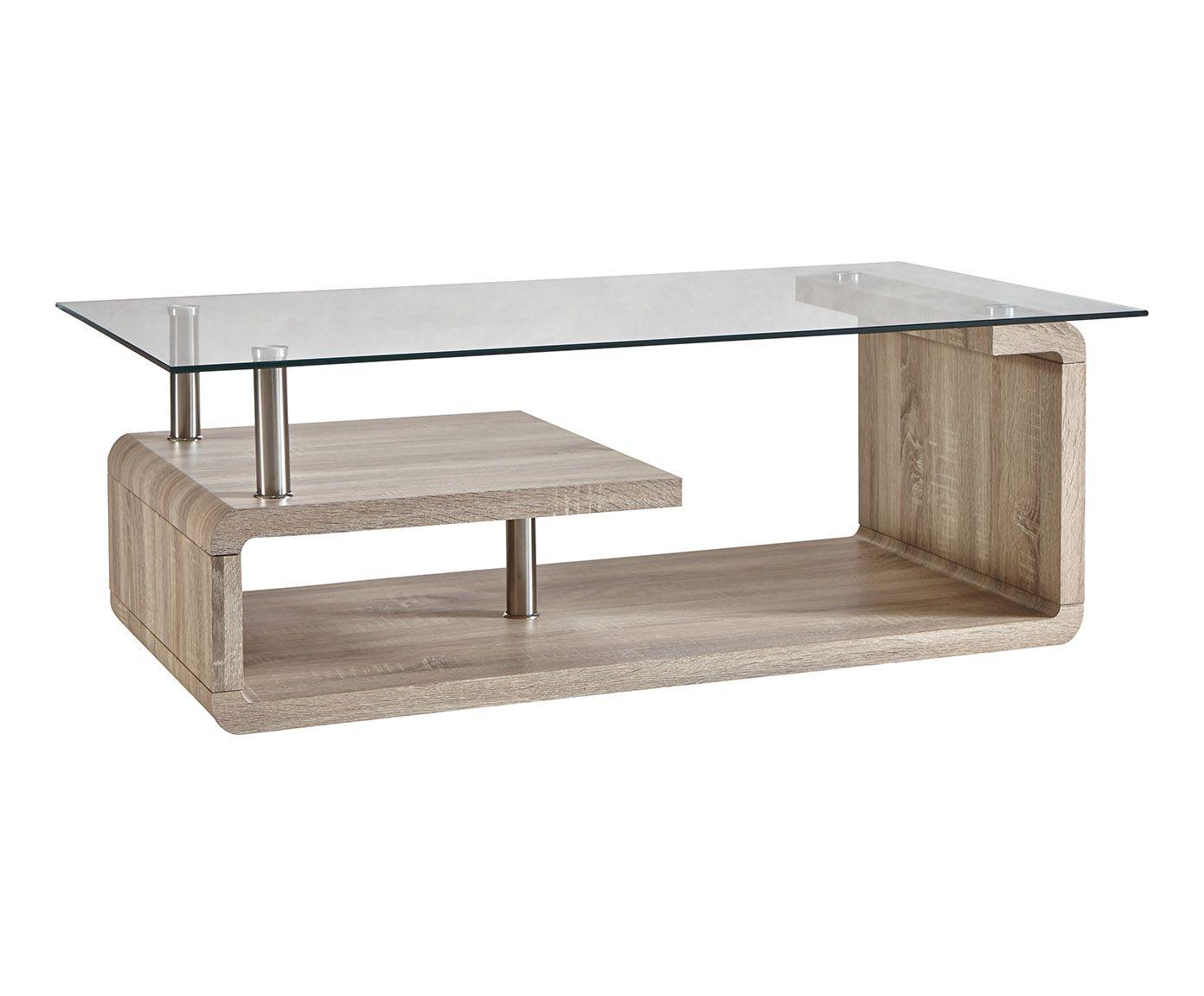 table basse bois et verre naturel et transparent l120. Black Bedroom Furniture Sets. Home Design Ideas