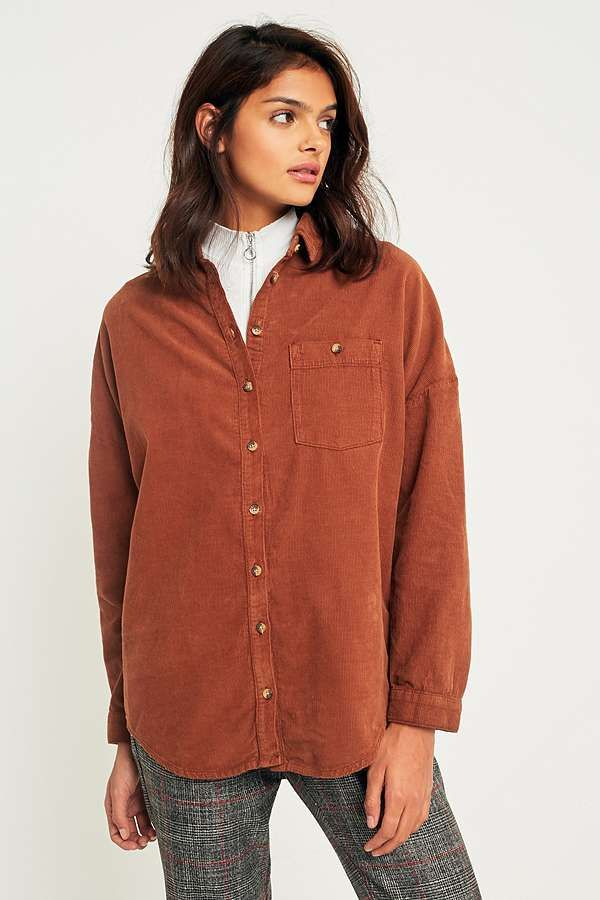 e3c49c12 BDG Corduroy Dolman Sleeve Button-Down Shirt | FASHUN | Jumper shirt ...