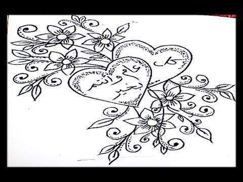 الدرس 6 تعلم الرسم قلوب وزهور Lesson 6 Learn Drawing Hearts And Hand Art Flower Tattoo Lotus Flower Tattoo