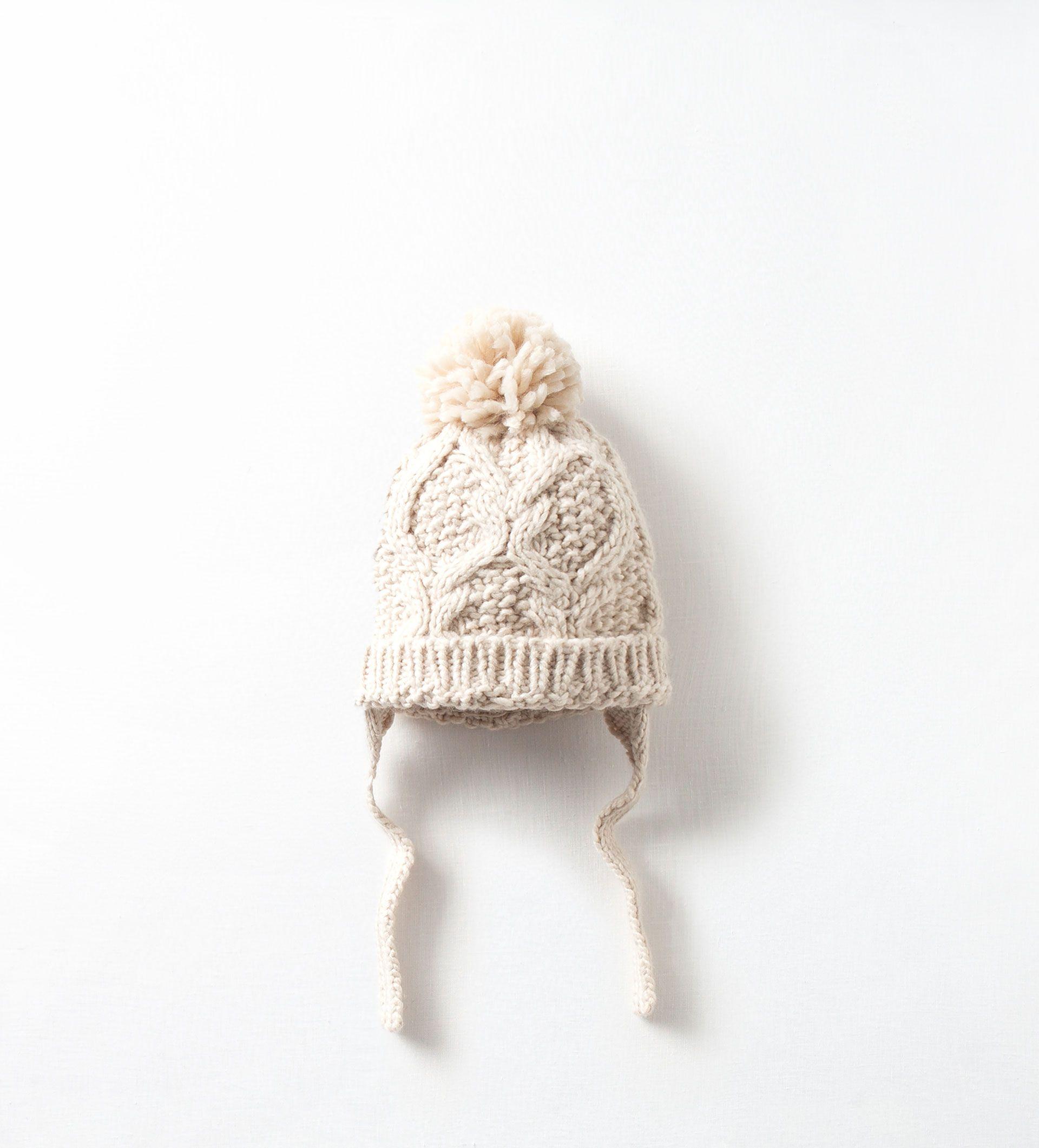 Zara Kids Knit Hat With Pompom Knit Pom Pom Hat Cute Baby Clothes Baby Boy Fashion