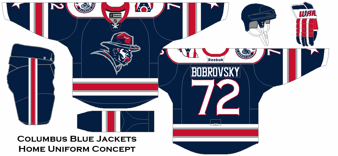 A New Look For The Columbus Blue Jackets Home Uniform Concept Columbus Blue Jackets Jersey Design Blue Jacket