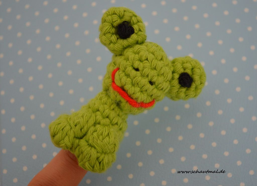 Fingerpuppe Frosch Fingerpuppen Puppen Finger Und Häkeln