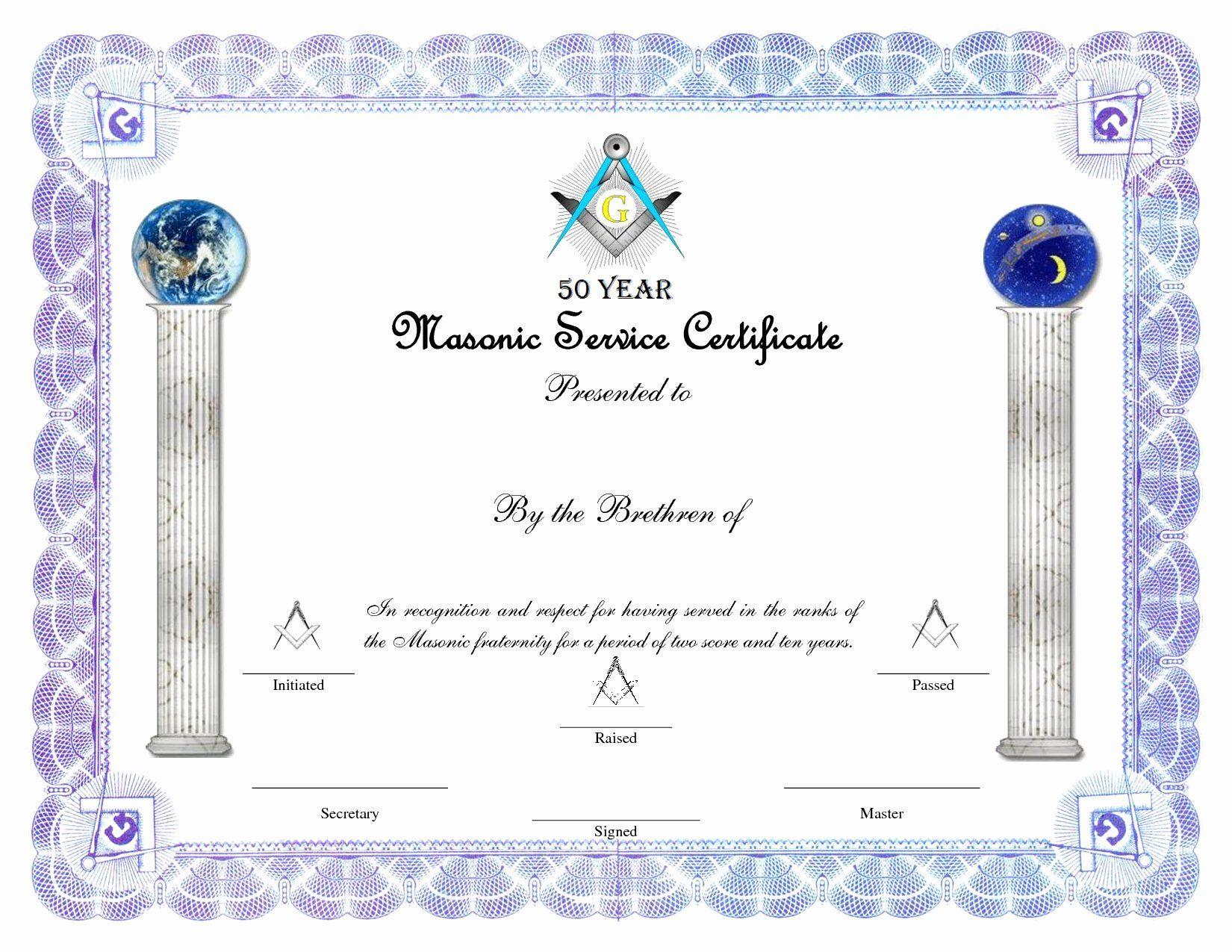 Masonic Certificate Of Appreciation Template Unique Certificates Of Certificate Of Appreciation Certificate Of Appreciation Template Certificate Templates Free