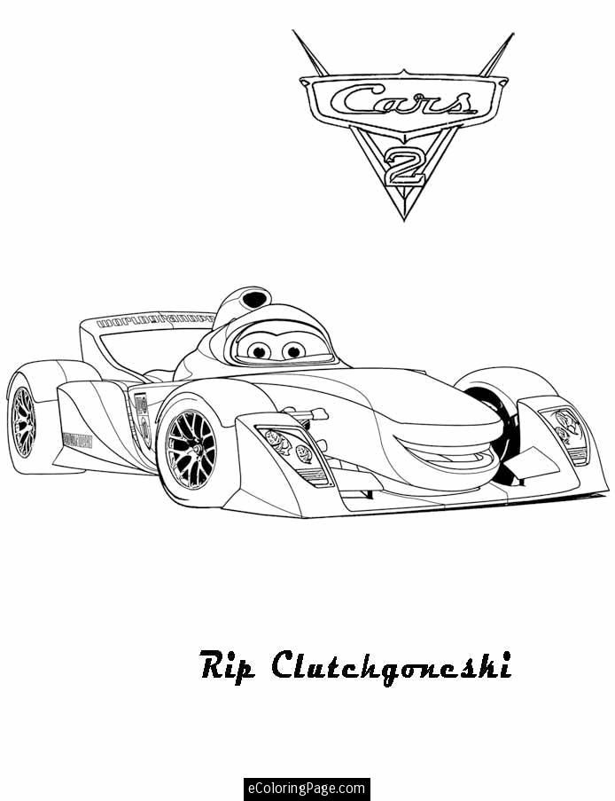 Cars 2 Printable Coloring Pages Cars 2 Rip Clutchgoneshi Printable Coloring Page Cars 2 Rod Cars Coloring Pages Printable Coloring Pages Coloring Pages
