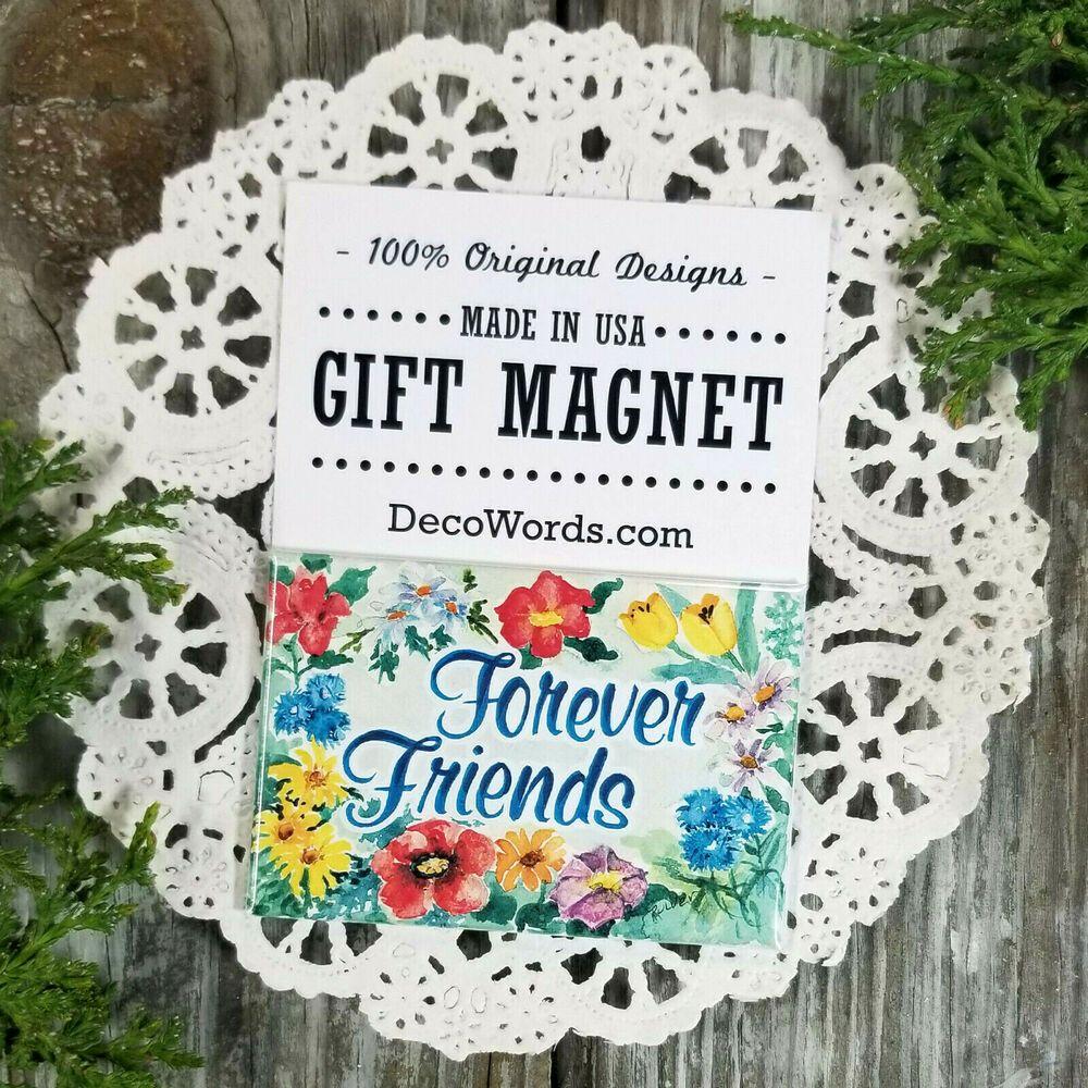 Forever Friends Original Design Gift Magnet Usa