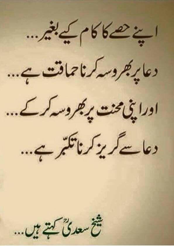 Sheikh Saadi Quote    Urdu Quote    اردو اقتباس    Follow me
