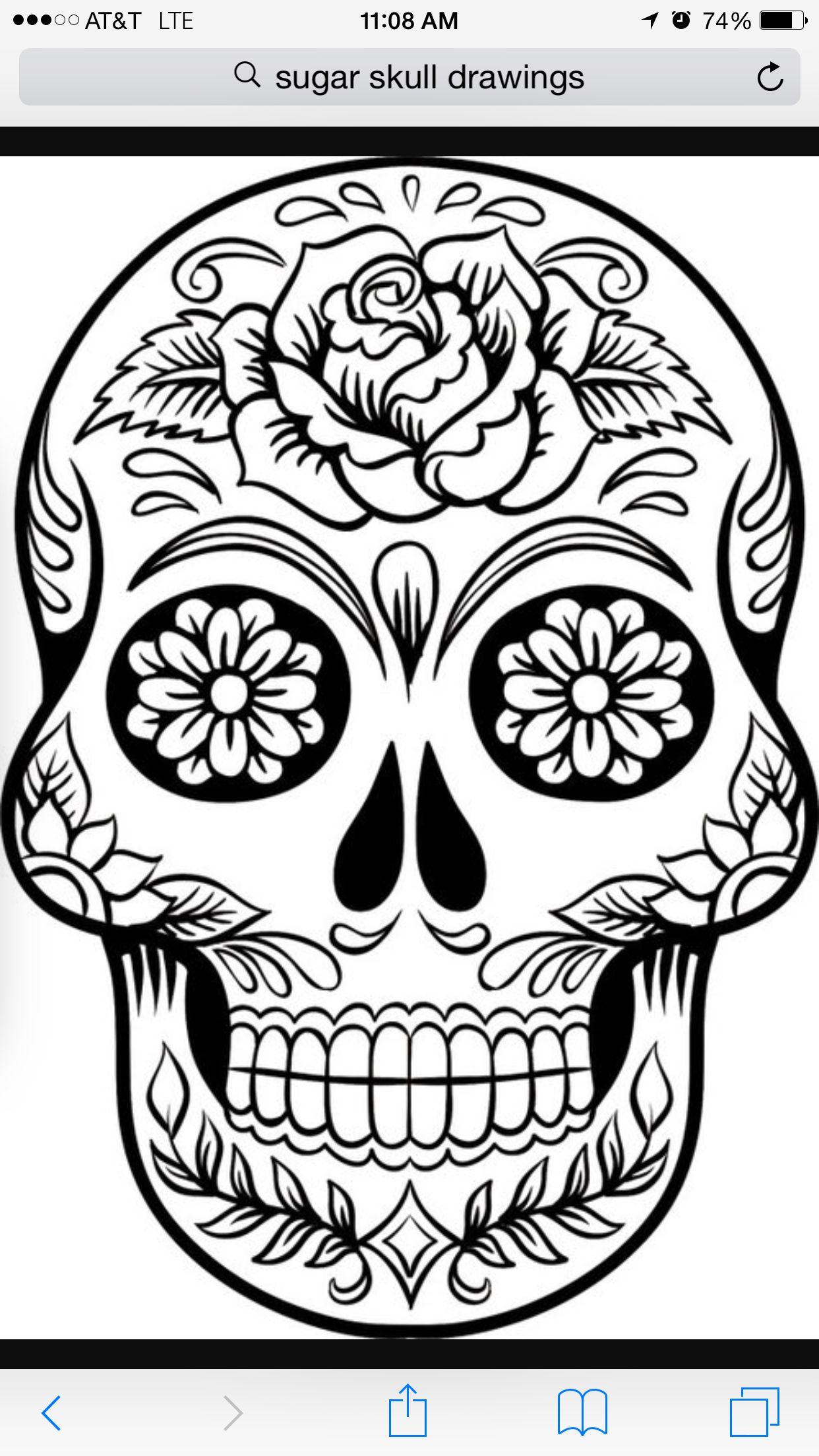 Tattoo Black And White Sugar Skull Tattoos Skull Coloring