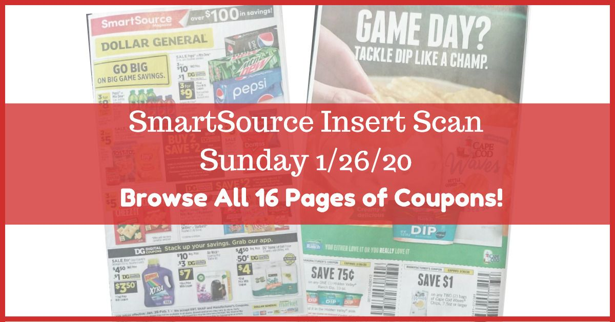 Smartsource Insert Scan 1 26 20 Browse The Actual Coupons In 2020 Smartsource Smartsource Coupons Coupon Inserts