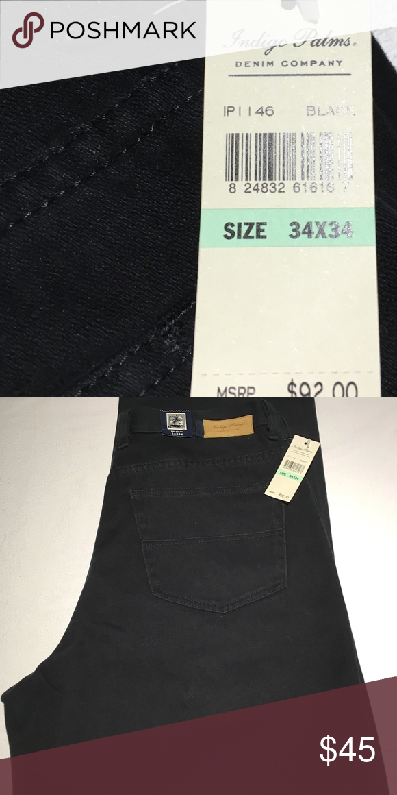 1617e359 NWT Men's Tommy Bahama Relax Fit Twill Jeans: 34 NEW with Tags Indigo Palms  Tommy