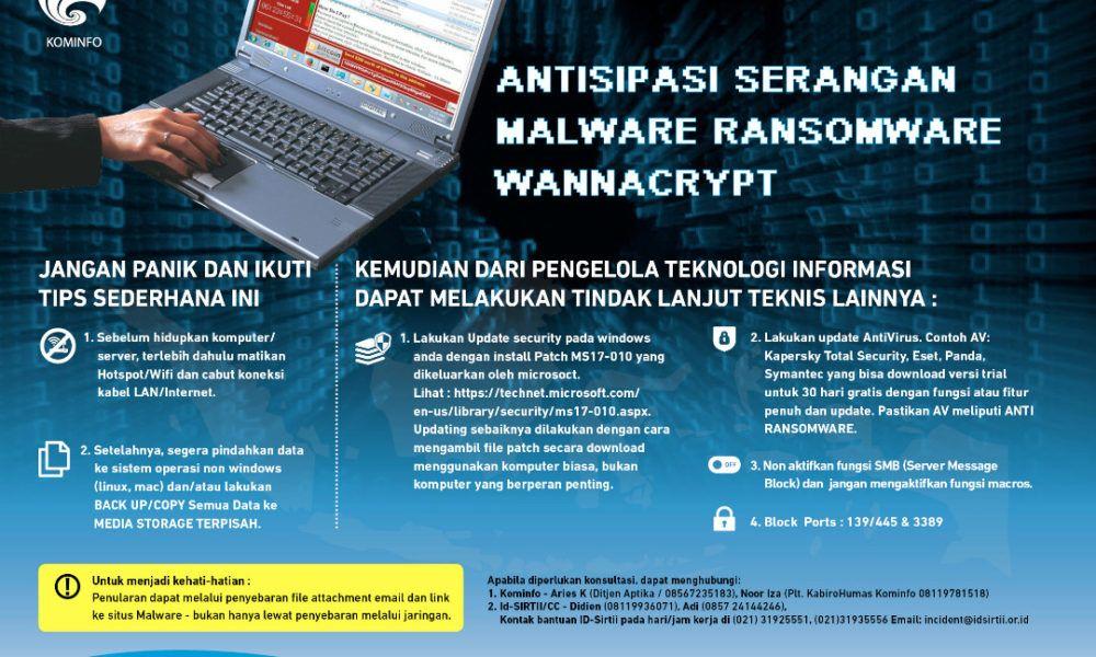 Serangan Ransomware Wannacry Dan Cara Mengatasi Malware Wannacry