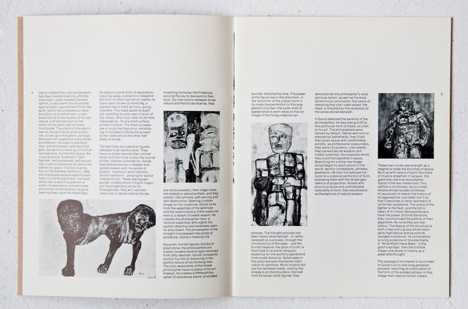 Leon Golub: Paintings Hayden Gallery, MIT Committee on the Visual Arts, 1970. Designer unknown.