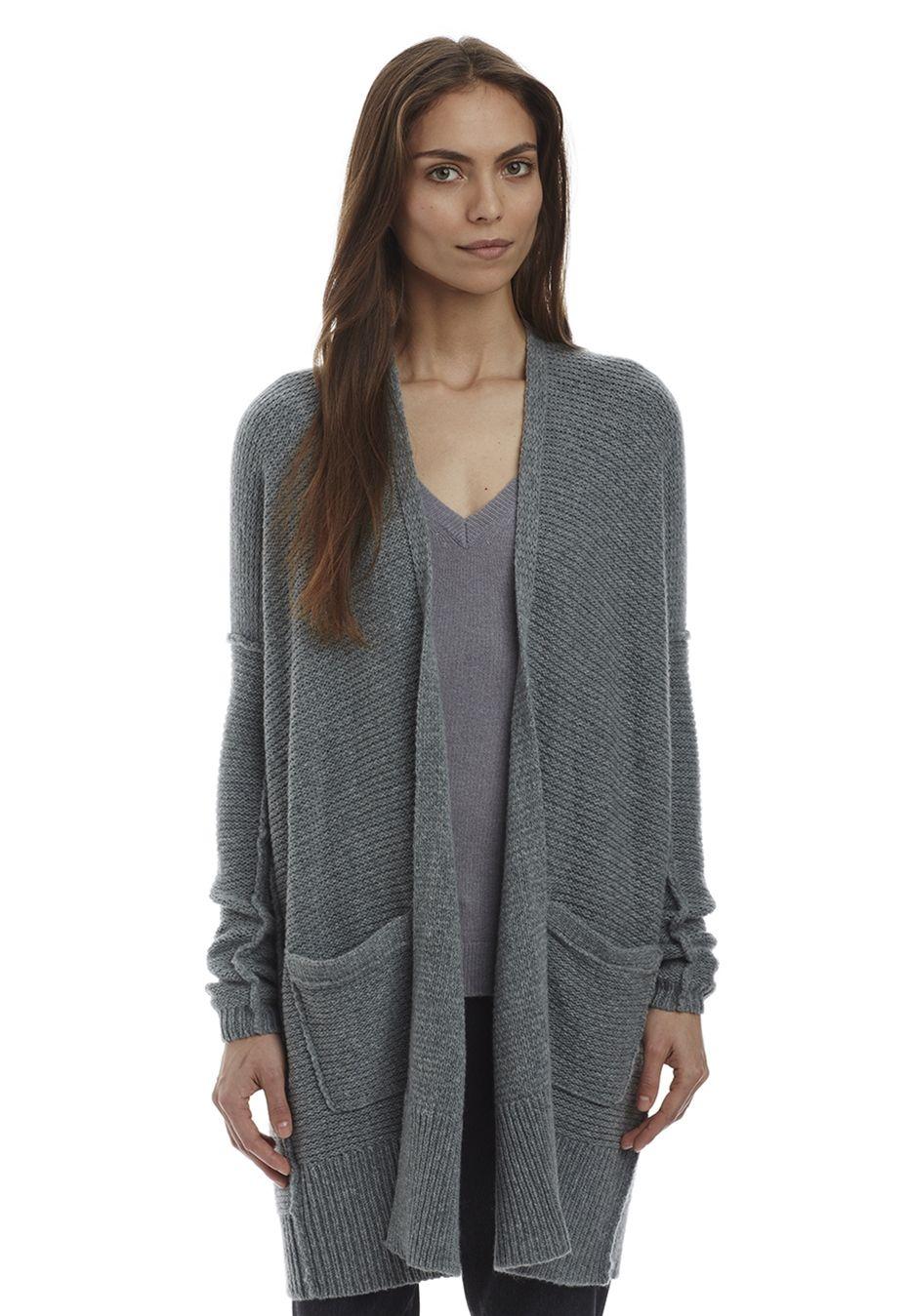Cashmere Sweaters   Cashmere Sweater   Cashmere - INHABIT - Cashmere Chainette Cardi