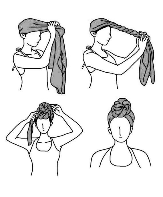 Women's African Stretch Turban Head Wrap Hair Jersey Scarf Tie