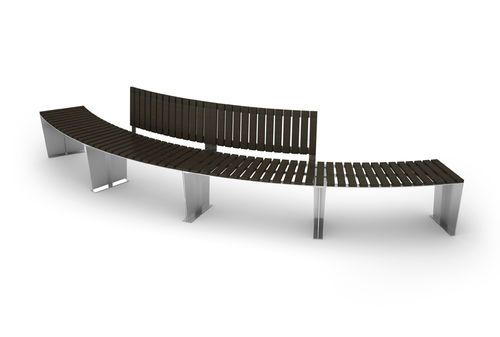 Public bench / contemporary / steel / in wood ARMONIA by Gibillero design CITYSI srl