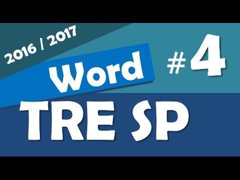 Word 2013 Concurso TRE SP 2016 2017 Informática # 4