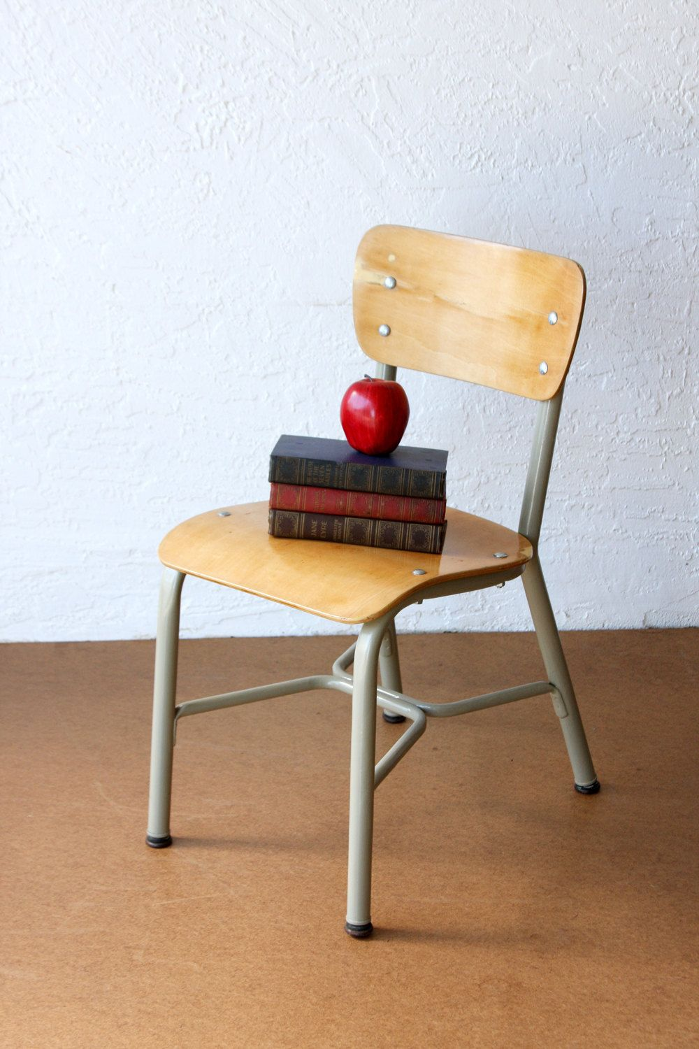 vintage child s school chair vintage chair back to school