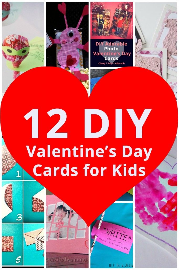 12 Adorable Diy Valentines Day Cards For Kids Celebration Station