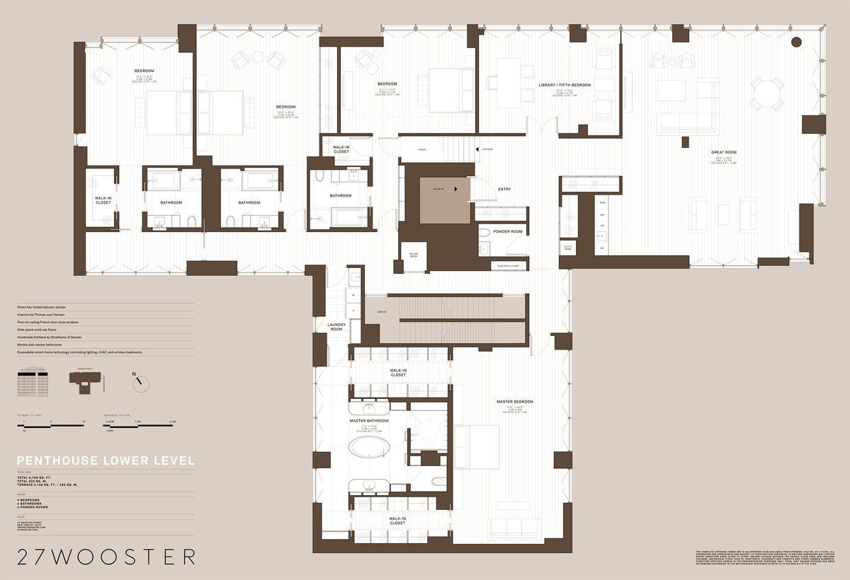 27 wooster penthouse first floor in soho luxurious apartments