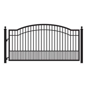 Mighty Mule 10 Ft W X 6 Ft H Biscayne Single Driveway Gate Discontinued G1710 Kit The Home Depot Driveway Gate Metal Driveway Gates Driveway Fence