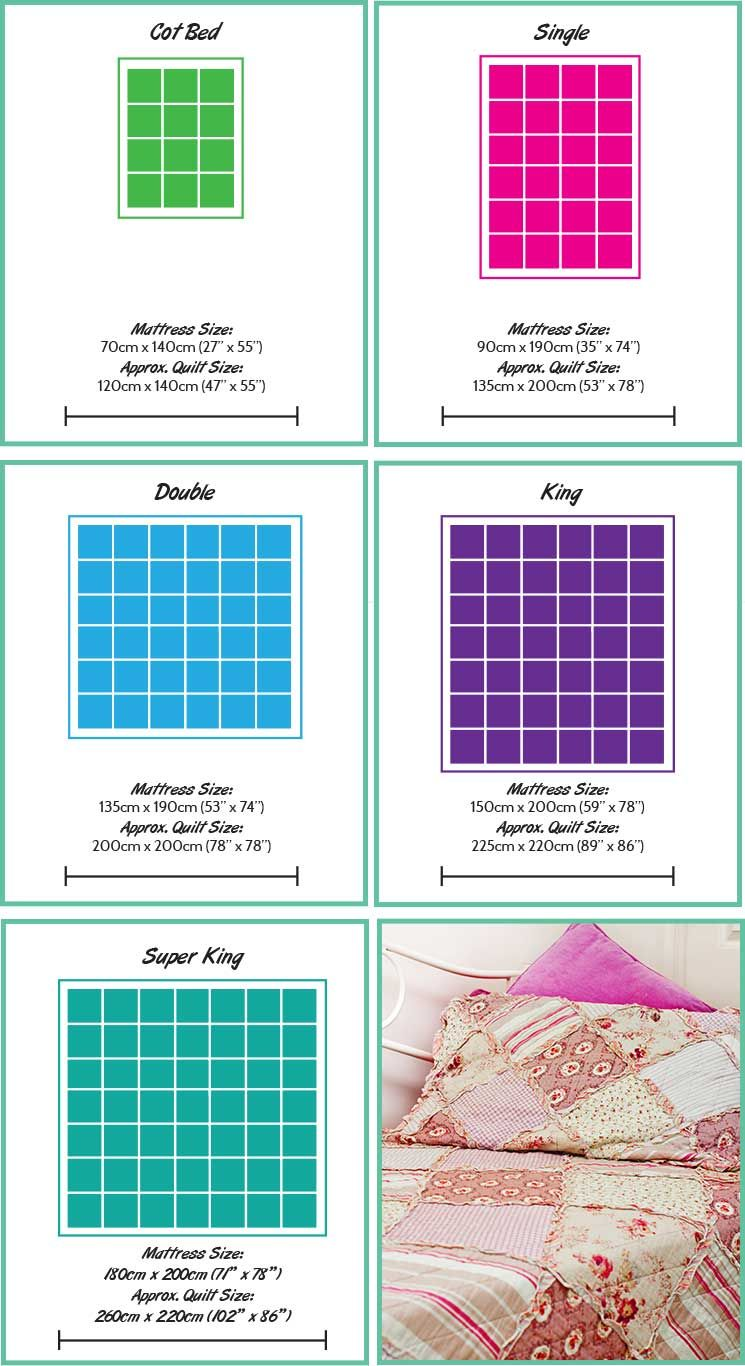 UK Quilt Size Guide Create and Craft Quilt sizes