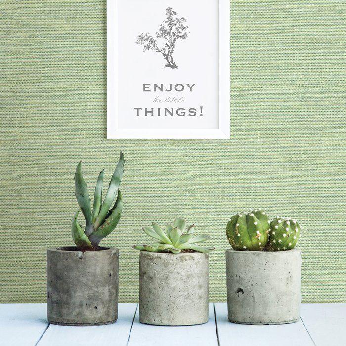 Odalys Faux Grasscloth Wallpaper Linen wallpaper, Peel