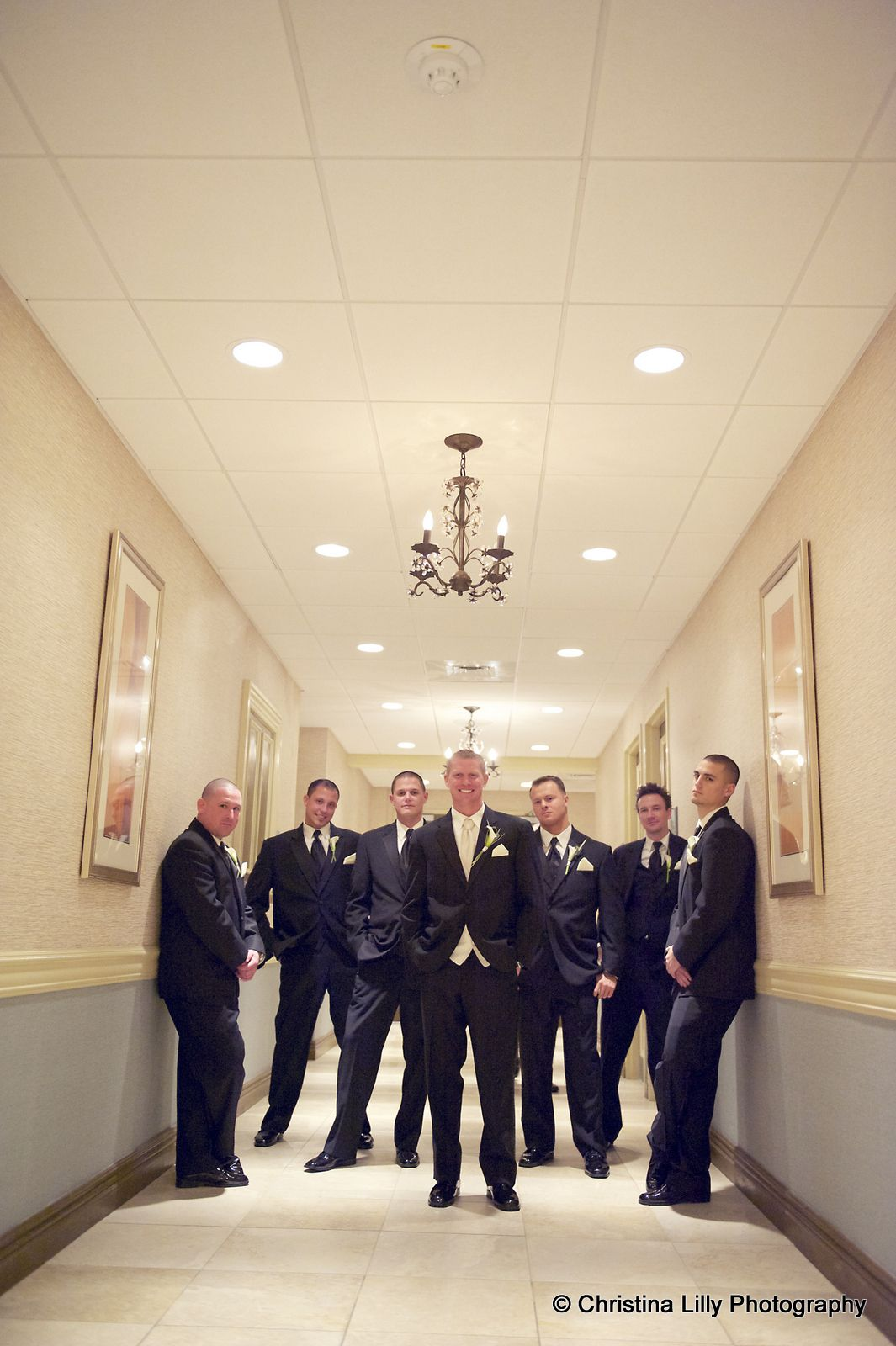 The Groom And His Groomsmen Pose For A Wedding Photo Www Crystalballroomnj Com Photo Cour Wedding Group Photos Creative Wedding Photography Wedding Photos