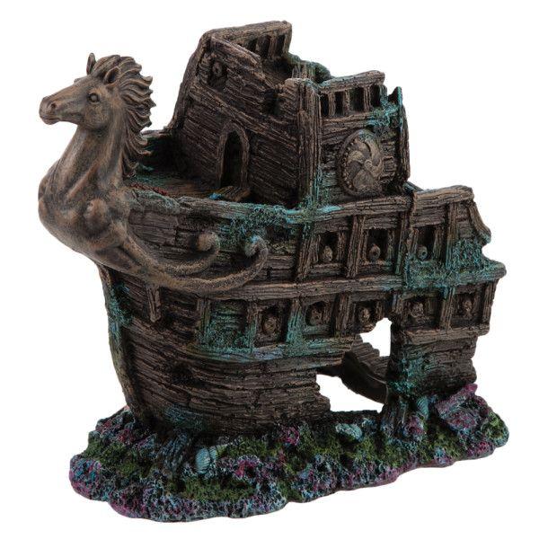 Top Fin Sunken Horse Ship Aquarium Ornament Ornaments Petsmart