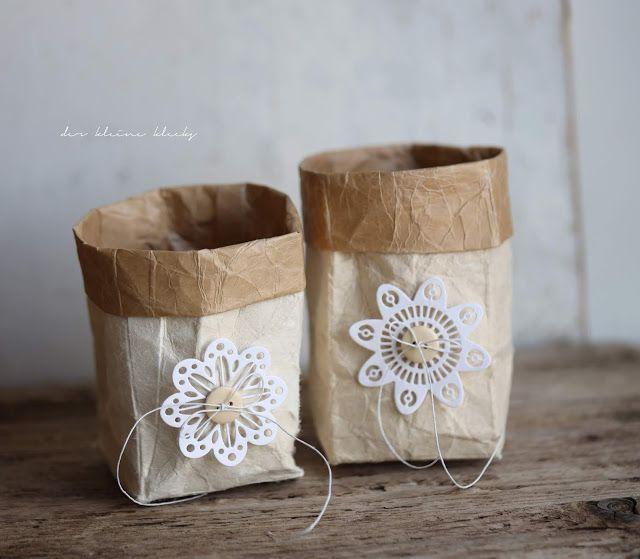 der kleine klecks: Milchkarton-Upcycling [Werbung] recycelte Milchtüten, Milchkartons upcycling, Milchtüte. Lace flowers - Kesi´art #recyclingbasteln