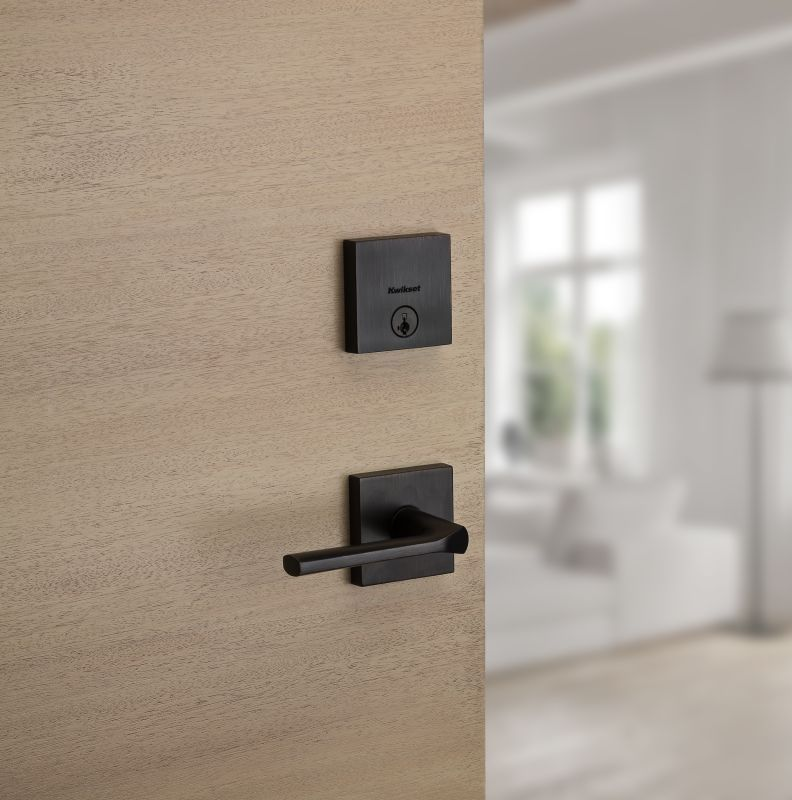 Lisbon Lever With Downtown Low Profile Deadbolt In Full Size Door Levers