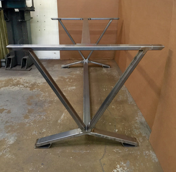 V-Shaped Dining Table Base, Industrial Base, Set Of 2 Legs