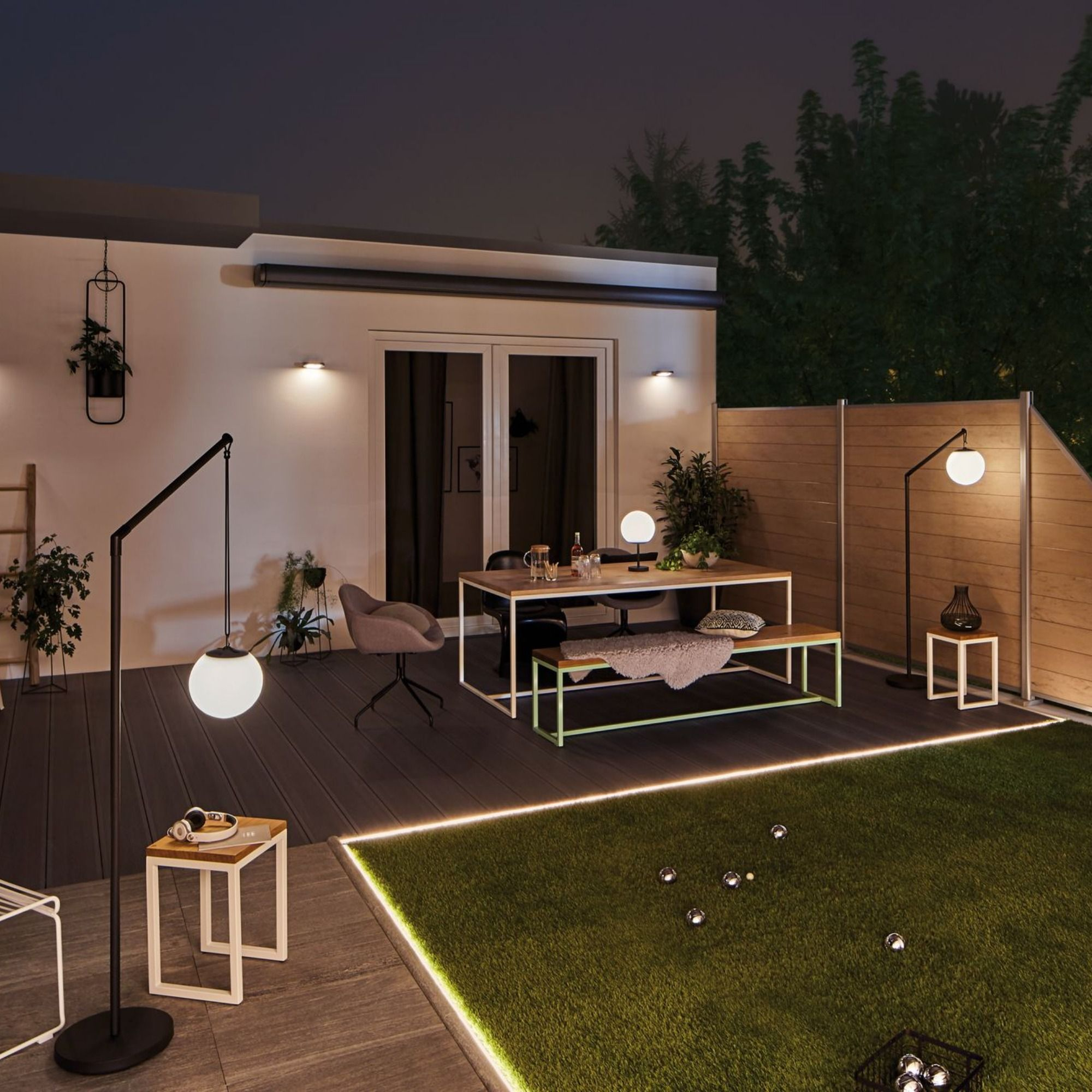Terrassenbeleuchtung Solar   Solar patio lights, Solar patio ...
