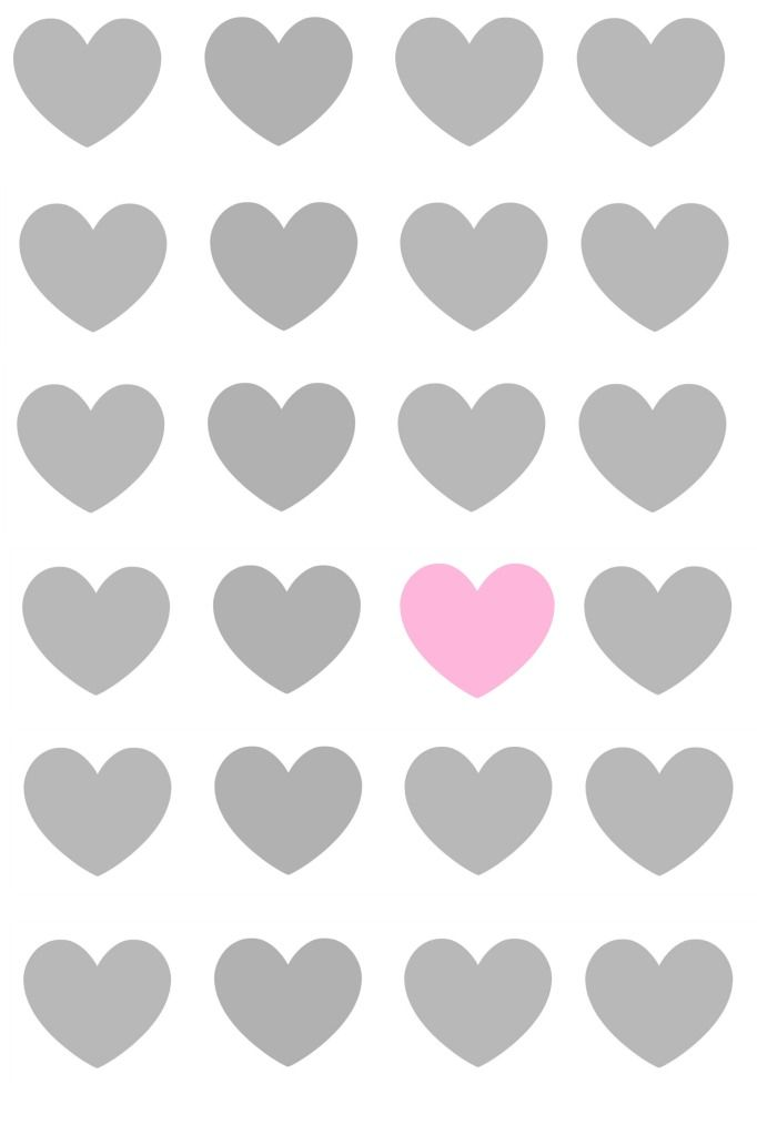 White Grey Pink Hearts Phone Iphone Wallpaper Background