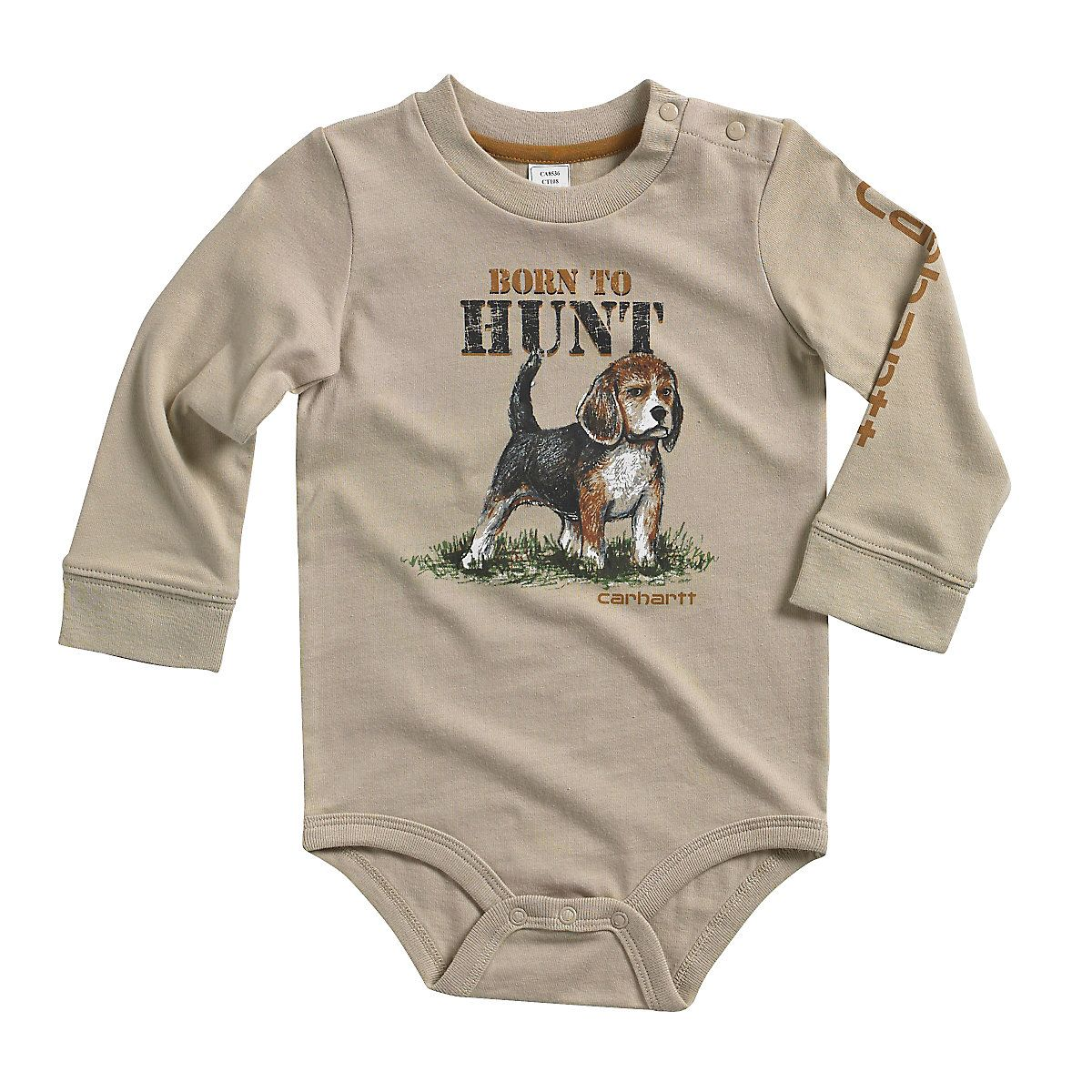 41c45bf27 Shop the Infant/Toddler Born to Hunt Bodyshirt for Boys' at Carhartt.com  for Boys' Shirts that works as hard as you do.