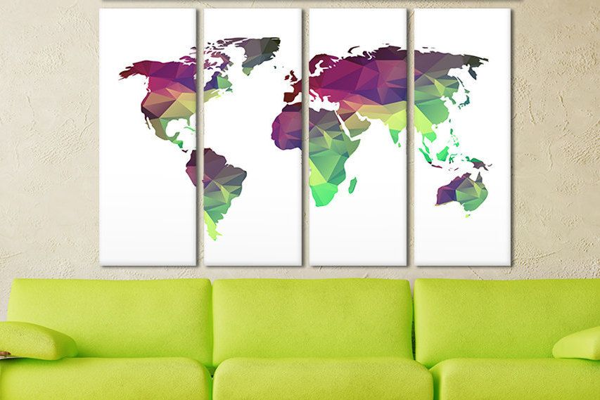 Personalized canvas world map colorful world map watercolor world personalized canvas world map colorful world map watercolor world map canvas wood panel world map canvas print wall art world map canvas gumiabroncs Gallery