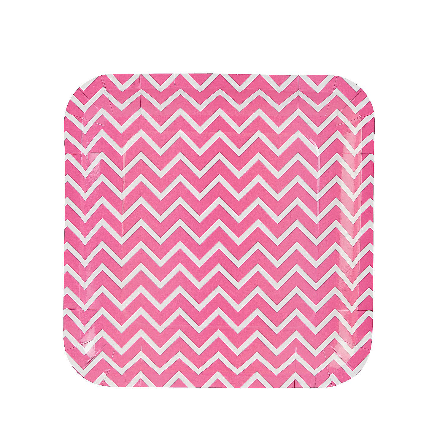 Pink Chevron Paper Dinner Plates | Dinners, Birthdays and ...