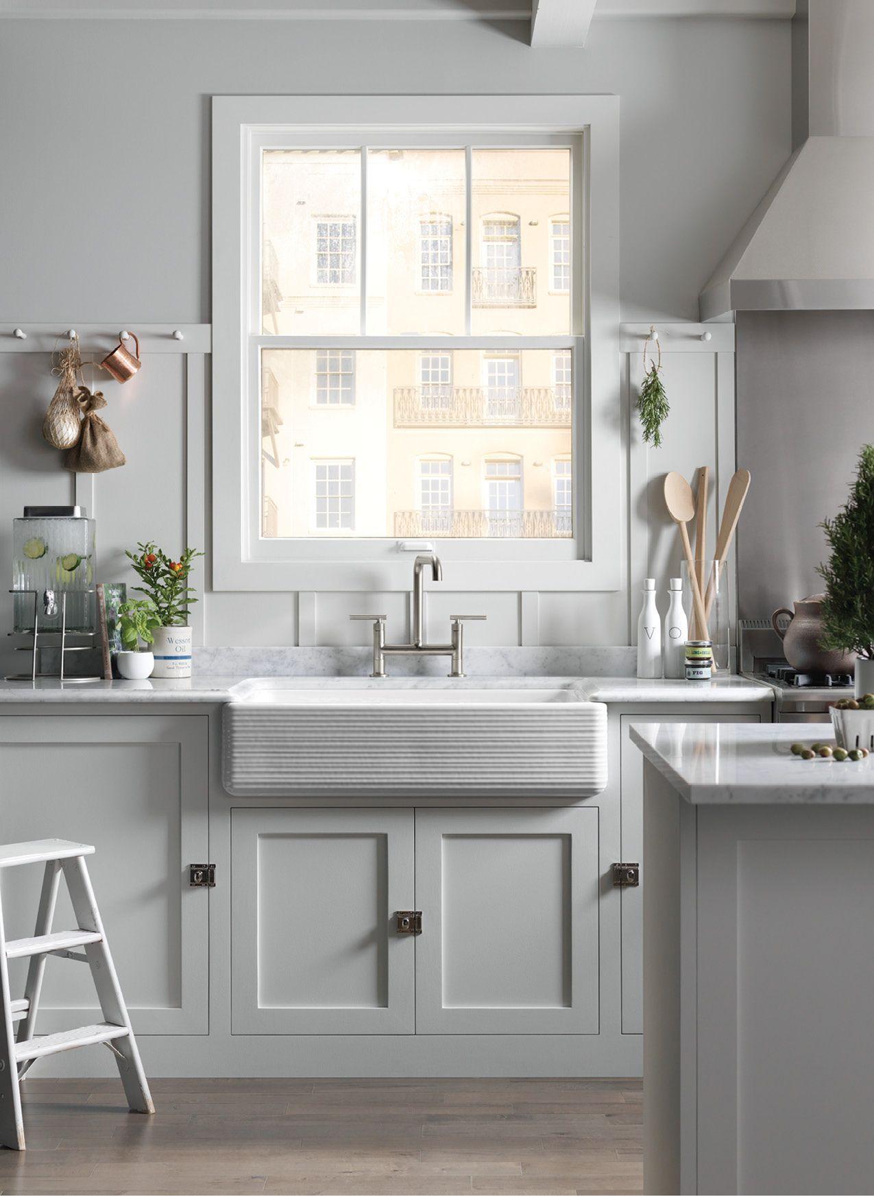 White On White Kitchen Kitchen remodel small, Kitchen