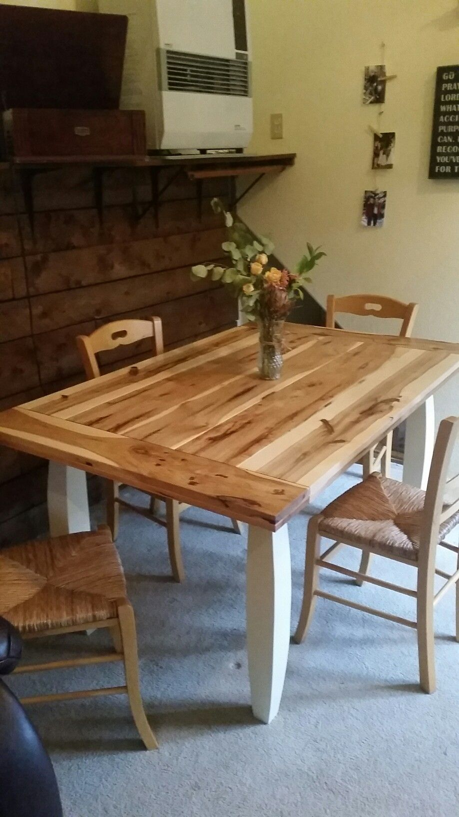 Rustic Hickory Table Diy In 2019 Barn Table Restaurant Tables