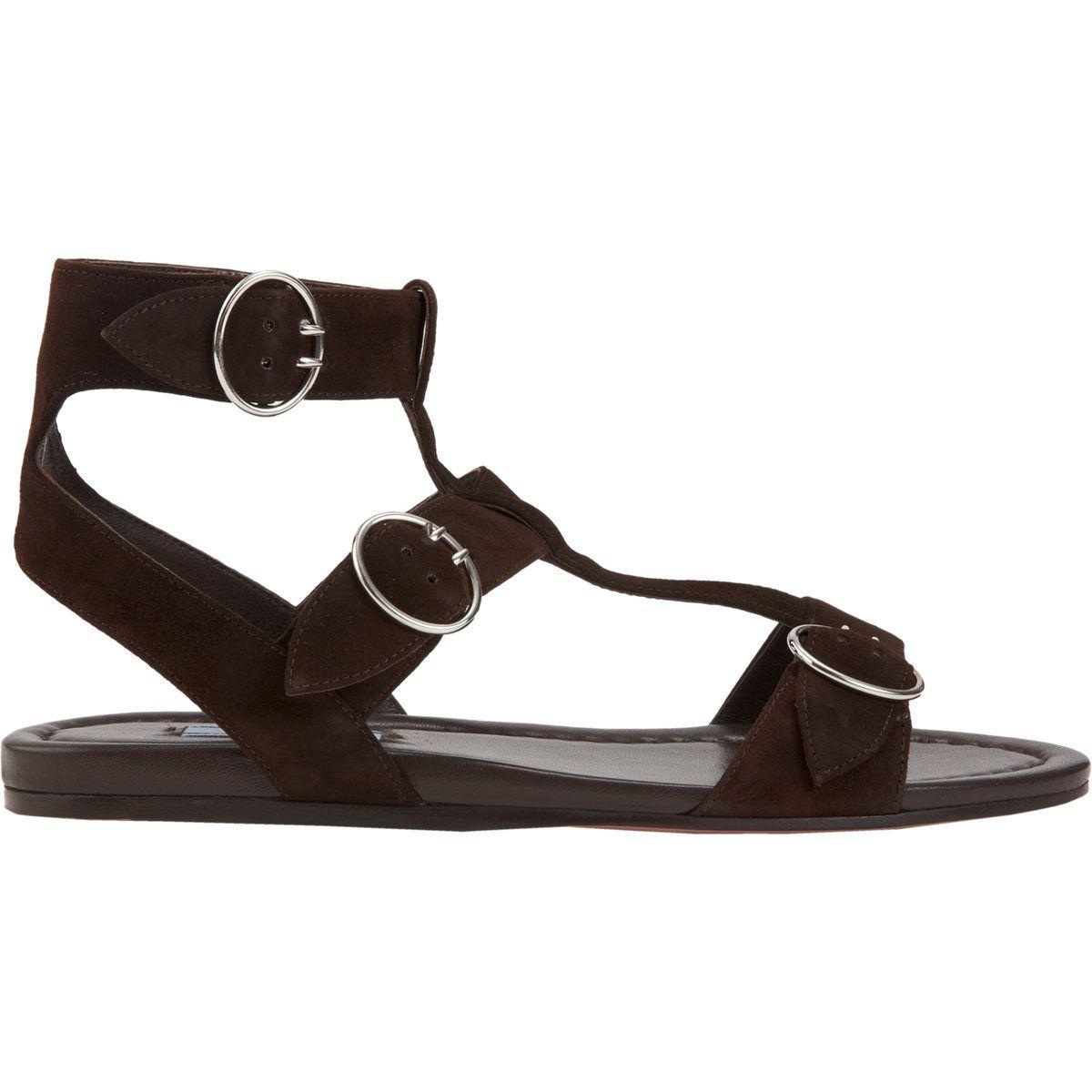 Prada Triple Strap Gladiator Sandal at Barneys.com