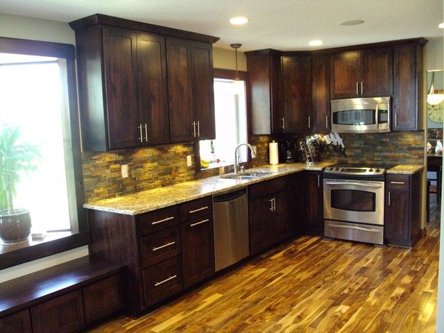 Acacia Wood Has A Lot Of Color Variation Which Makes It Even More Beguiling Acacia Flooring Modern Wood Floors Kitchen Flooring
